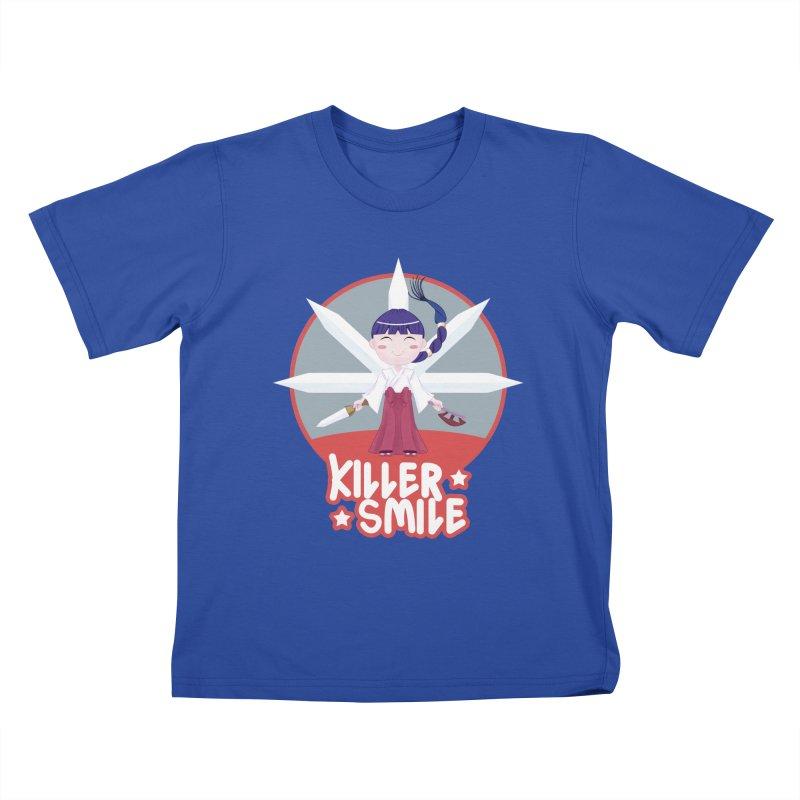 KILLER SMILE Kids T-Shirt by droidmonkey's Artist Shop
