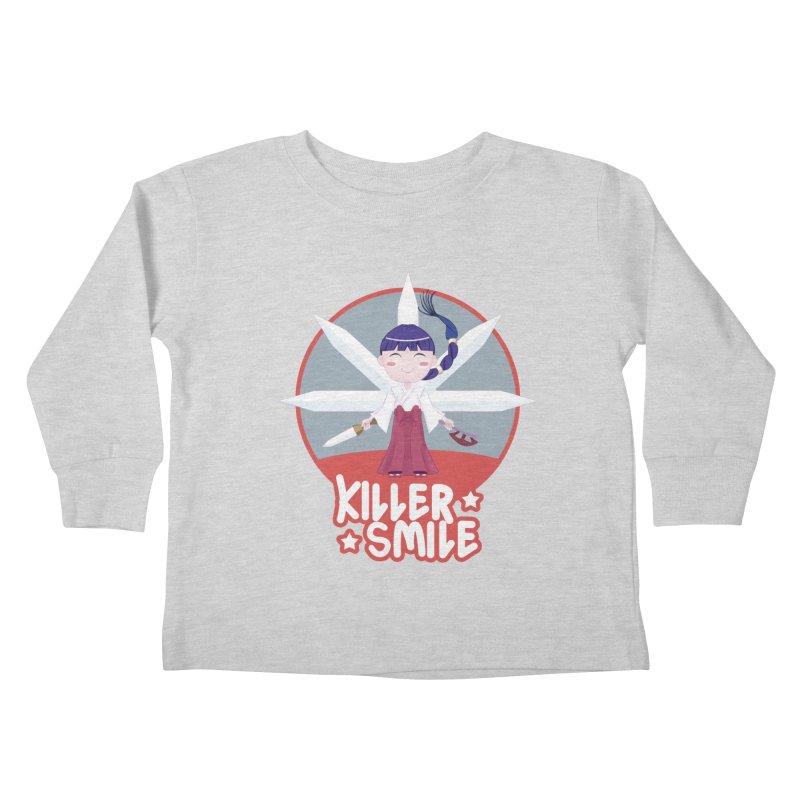 KILLER SMILE Kids Toddler Longsleeve T-Shirt by droidmonkey's Artist Shop