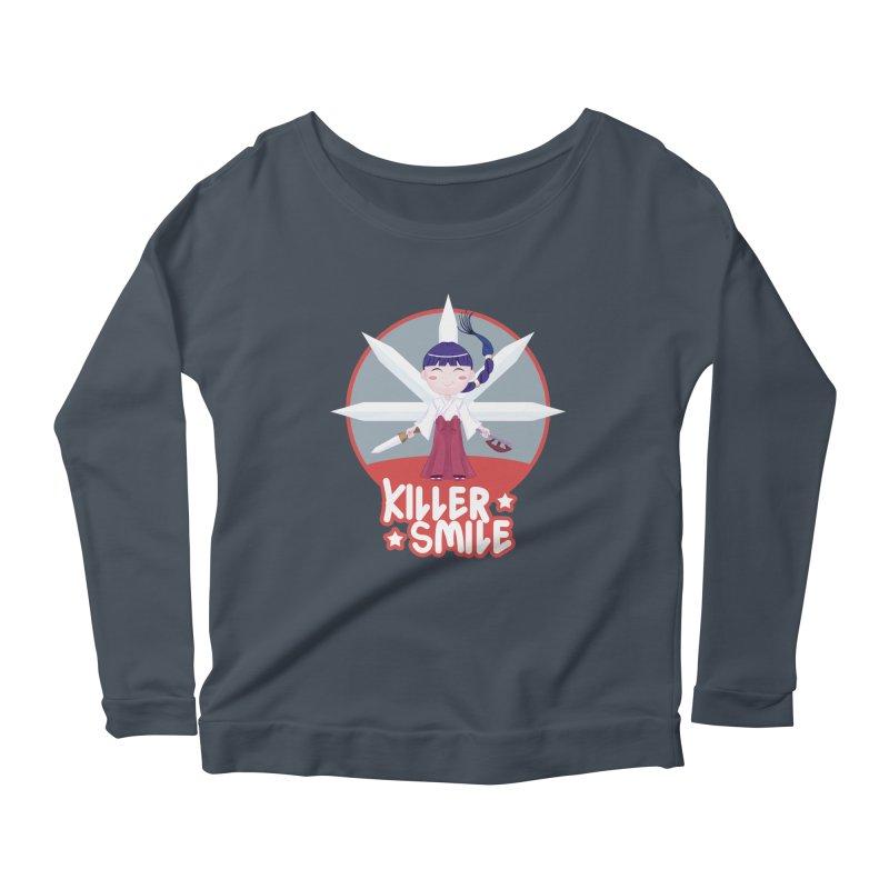 KILLER SMILE Women's Scoop Neck Longsleeve T-Shirt by droidmonkey's Artist Shop