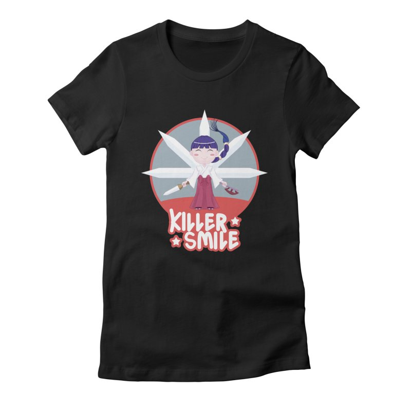 KILLER SMILE Women's Fitted T-Shirt by droidmonkey's Artist Shop