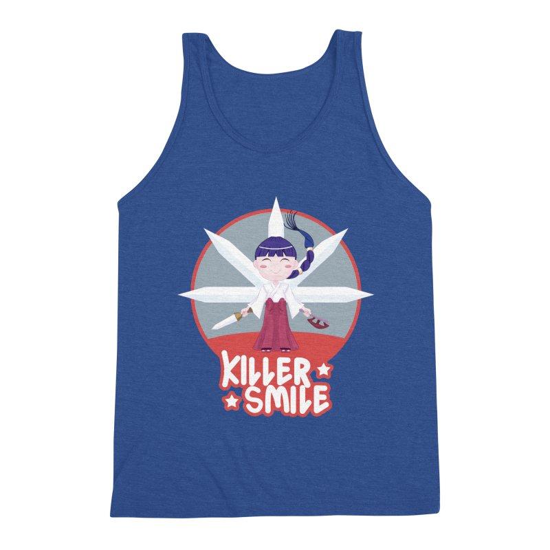 KILLER SMILE Men's Triblend Tank by droidmonkey's Artist Shop