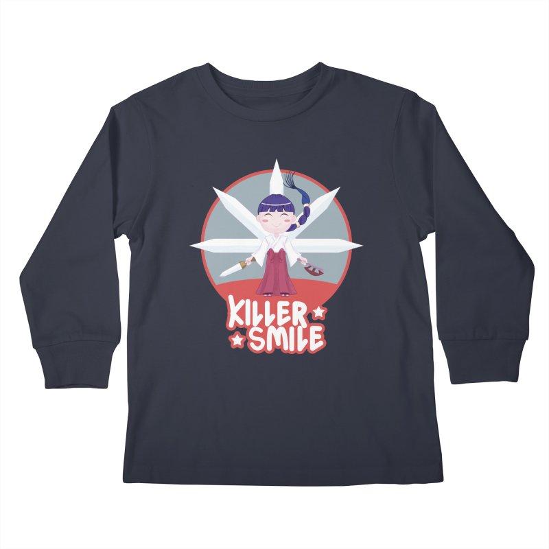 KILLER SMILE Kids Longsleeve T-Shirt by droidmonkey's Artist Shop