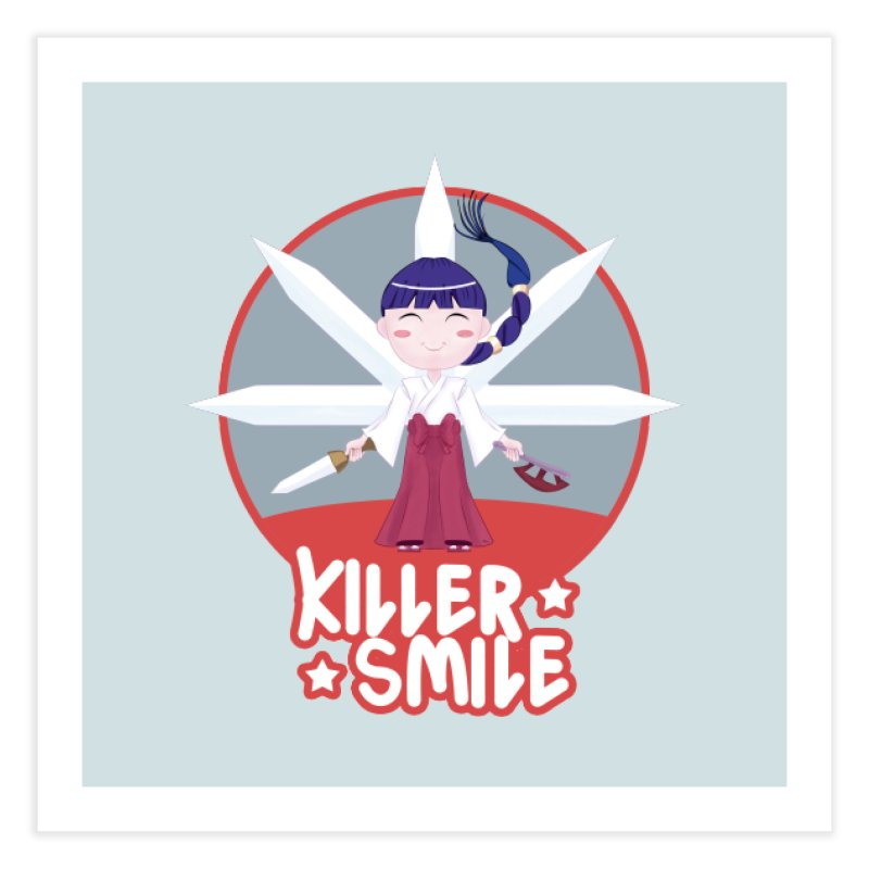 KILLER SMILE Home Fine Art Print by droidmonkey's Artist Shop