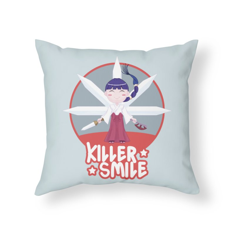 KILLER SMILE Home Throw Pillow by droidmonkey's Artist Shop