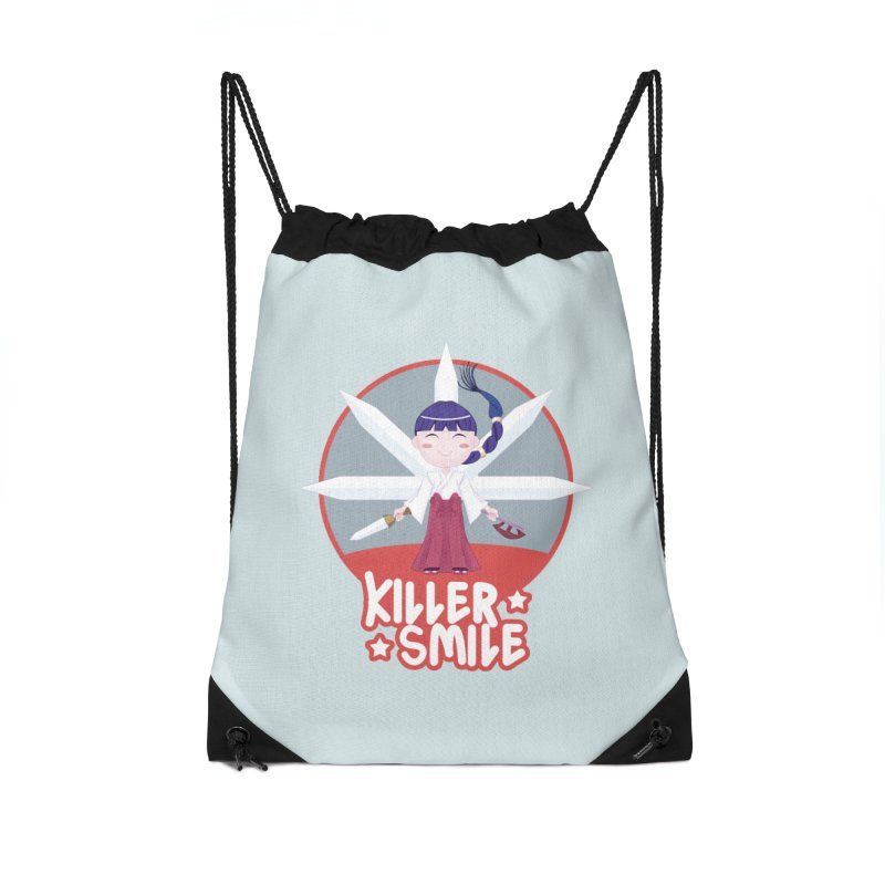 KILLER SMILE Accessories Drawstring Bag Bag by droidmonkey's Artist Shop