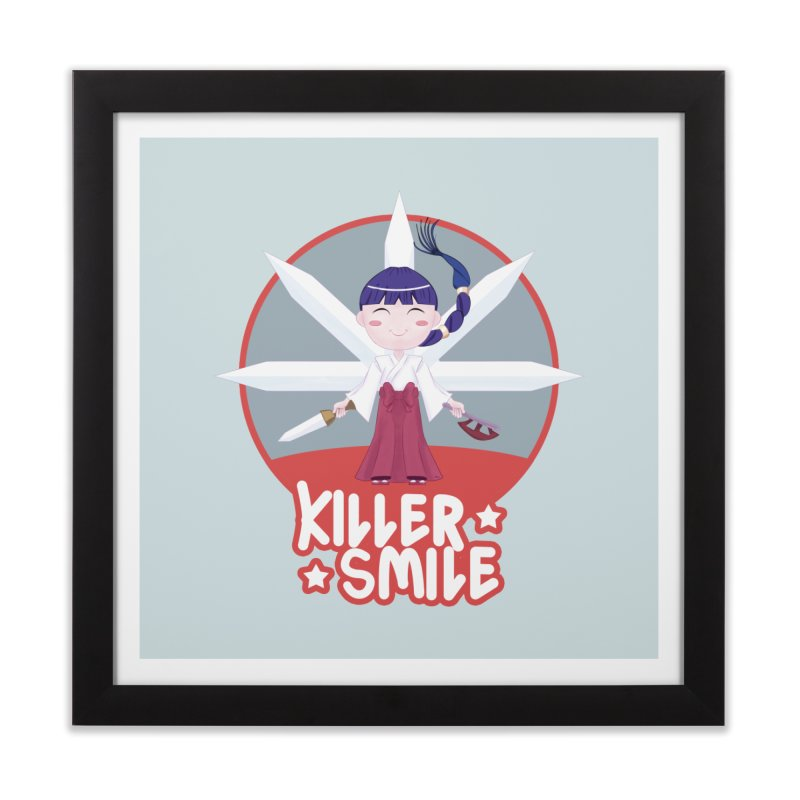 KILLER SMILE Home Framed Fine Art Print by droidmonkey's Artist Shop