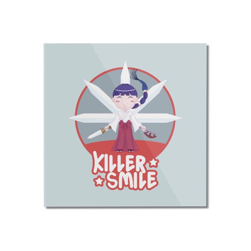 KILLER SMILE Home Mounted Acrylic Print by droidmonkey's Artist Shop
