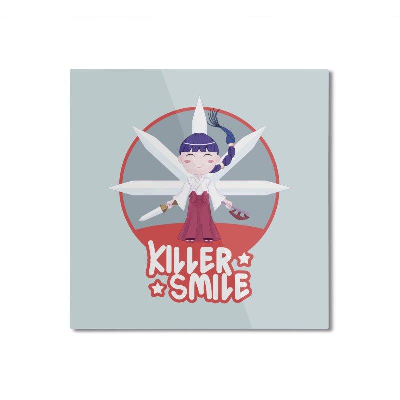 KILLER SMILE Home Mounted Aluminum Print by droidmonkey's Artist Shop