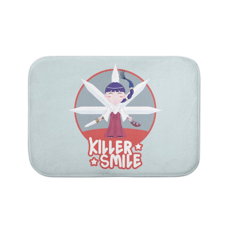 KILLER SMILE Home Bath Mat by droidmonkey's Artist Shop