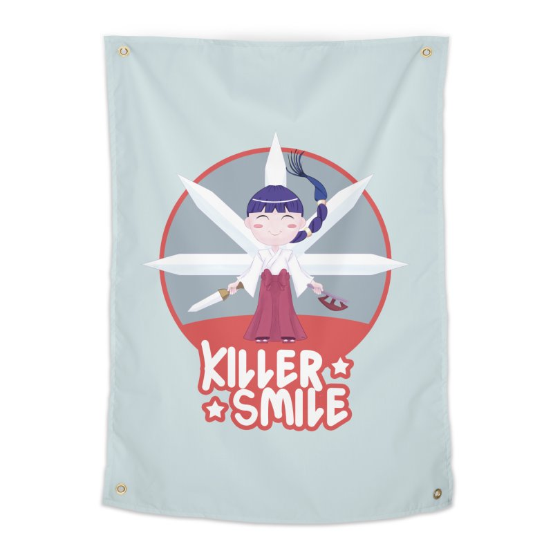 KILLER SMILE Home Tapestry by droidmonkey's Artist Shop