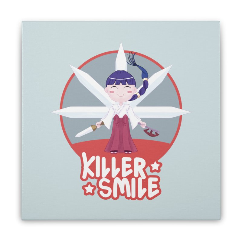 KILLER SMILE Home Stretched Canvas by droidmonkey's Artist Shop