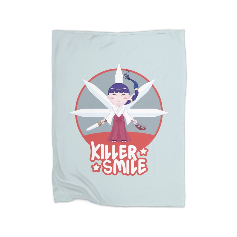 KILLER SMILE Home Fleece Blanket Blanket by droidmonkey's Artist Shop