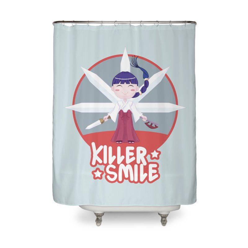 KILLER SMILE Home Shower Curtain by droidmonkey's Artist Shop