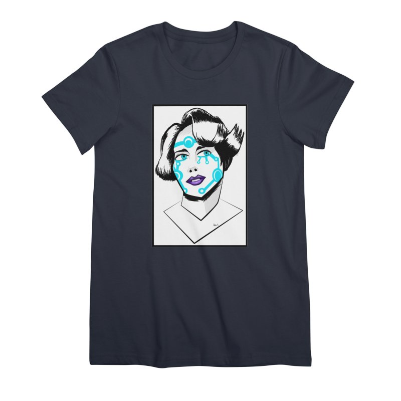 CYBER GIRL Women's Premium T-Shirt by droidmonkey's Artist Shop