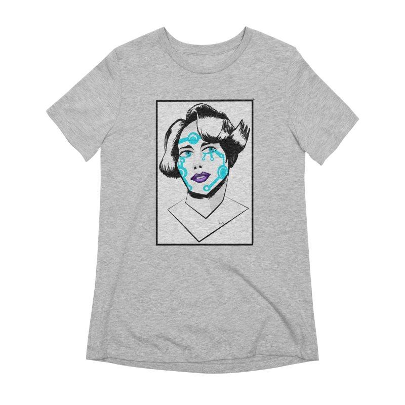 CYBER GIRL Women's Extra Soft T-Shirt by droidmonkey's Artist Shop