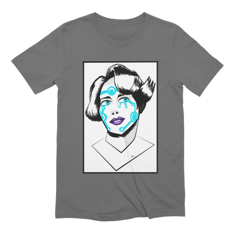 CYBER GIRL Men's Extra Soft T-Shirt by droidmonkey's Artist Shop