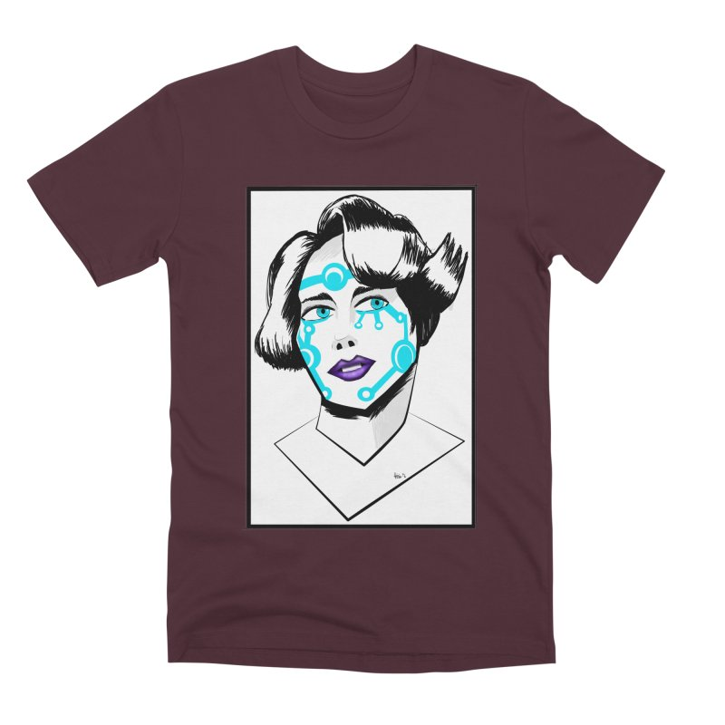 CYBER GIRL Men's Premium T-Shirt by droidmonkey's Artist Shop