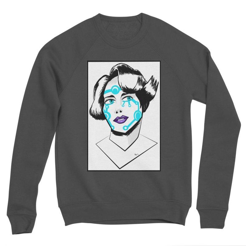 CYBER GIRL Women's Sponge Fleece Sweatshirt by droidmonkey's Artist Shop