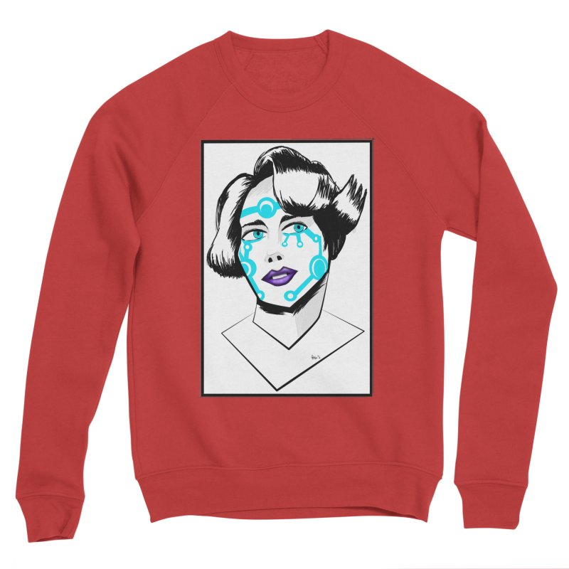 CYBER GIRL Men's Sponge Fleece Sweatshirt by droidmonkey's Artist Shop