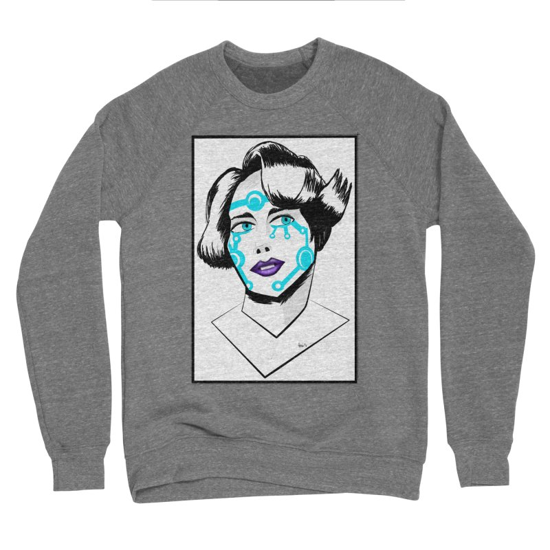 CYBER GIRL Men's Sponge Fleece Sweatshirt by droidmonkey's Artist Shop
