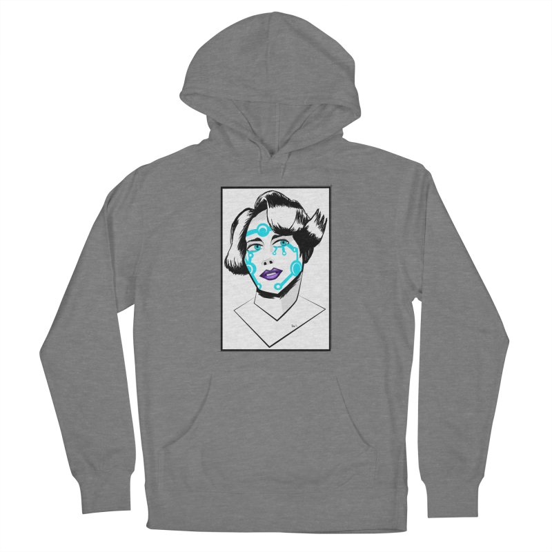 CYBER GIRL Men's French Terry Pullover Hoody by droidmonkey's Artist Shop
