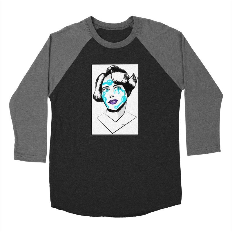 CYBER GIRL Women's Baseball Triblend Longsleeve T-Shirt by droidmonkey's Artist Shop