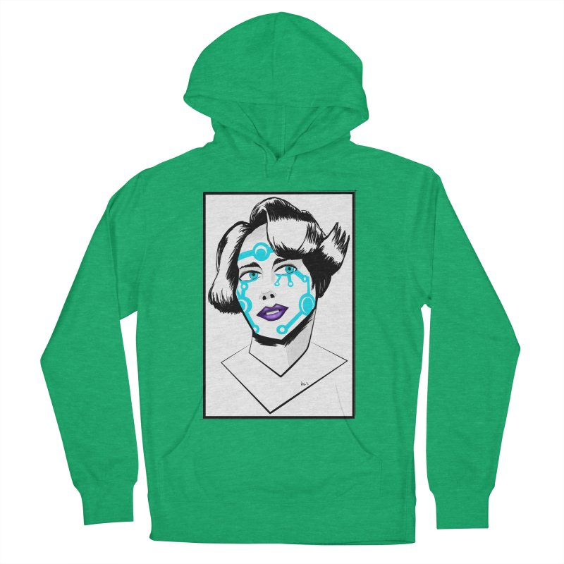 CYBER GIRL Women's French Terry Pullover Hoody by droidmonkey's Artist Shop