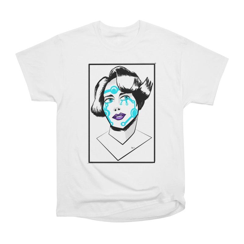 CYBER GIRL Men's Heavyweight T-Shirt by droidmonkey's Artist Shop