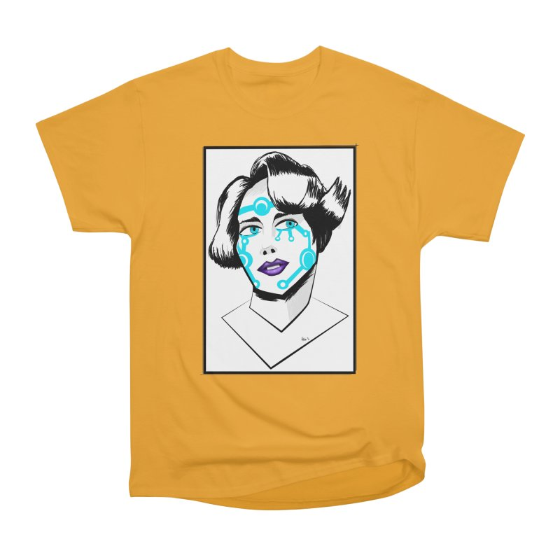 CYBER GIRL Women's Heavyweight Unisex T-Shirt by droidmonkey's Artist Shop
