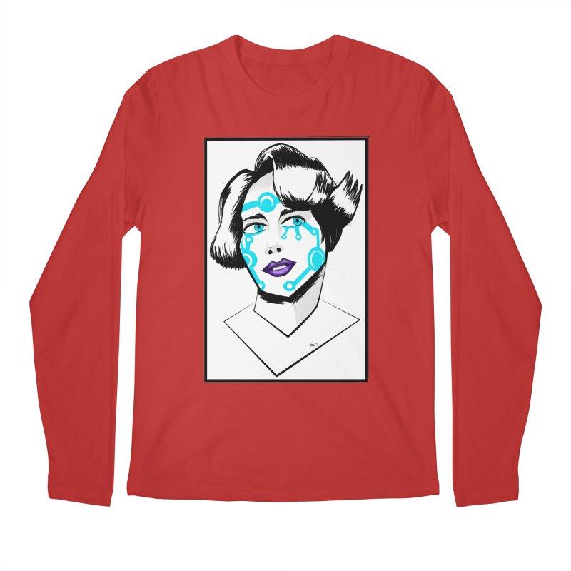CYBER GIRL Men's Regular Longsleeve T-Shirt by droidmonkey's Artist Shop