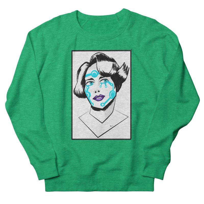 CYBER GIRL Women's French Terry Sweatshirt by droidmonkey's Artist Shop