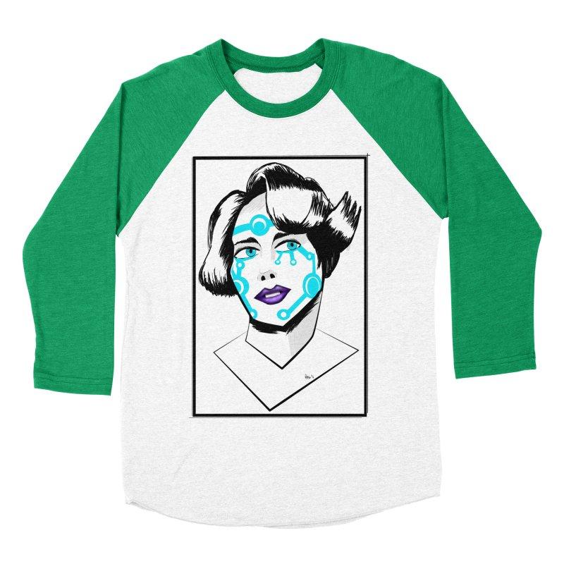 CYBER GIRL Men's Baseball Triblend Longsleeve T-Shirt by droidmonkey's Artist Shop