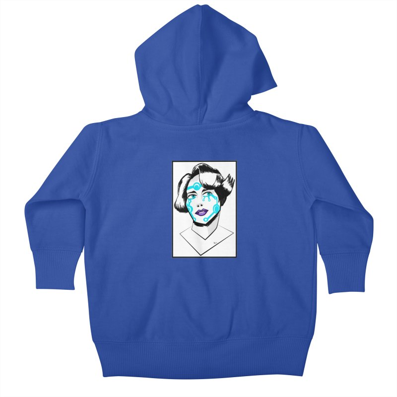 CYBER GIRL Kids Baby Zip-Up Hoody by droidmonkey's Artist Shop