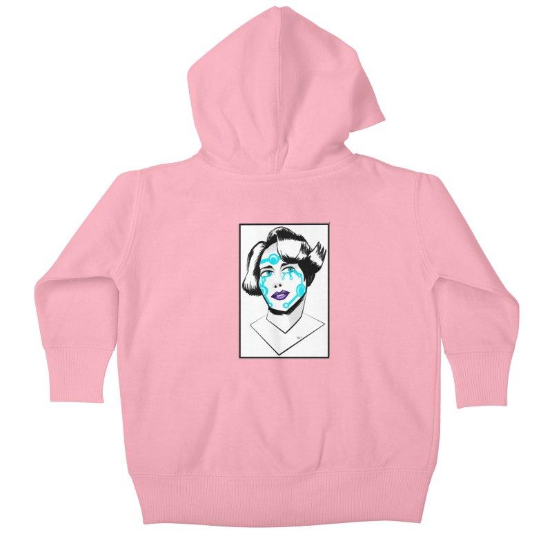 CYBER GIRL Kids Baby Zip-Up Hoody by droidmonkey's Artist Shop