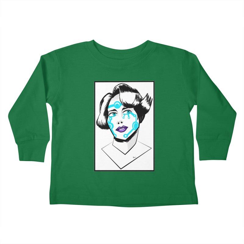 CYBER GIRL Kids Toddler Longsleeve T-Shirt by droidmonkey's Artist Shop