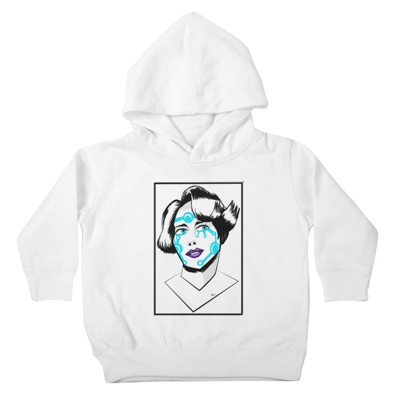 CYBER GIRL Kids Toddler Pullover Hoody by droidmonkey's Artist Shop