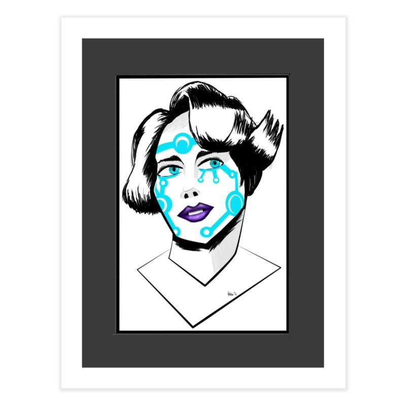 CYBER GIRL Home Fine Art Print by droidmonkey's Artist Shop