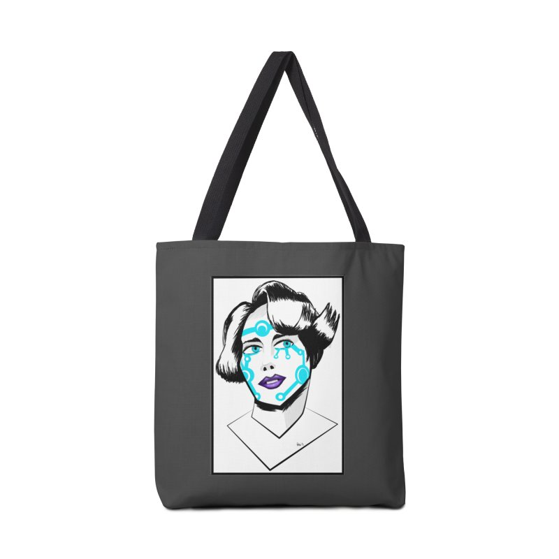 CYBER GIRL Accessories Tote Bag Bag by droidmonkey's Artist Shop