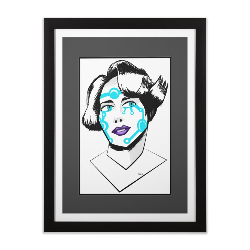 CYBER GIRL Home Framed Fine Art Print by droidmonkey's Artist Shop