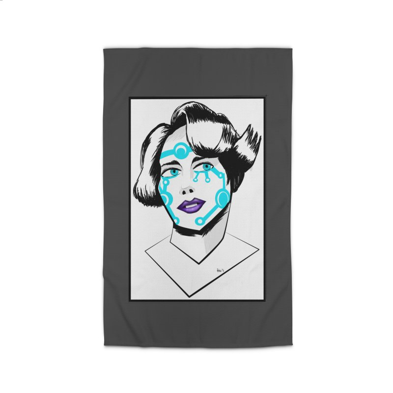 CYBER GIRL Home Rug by droidmonkey's Artist Shop