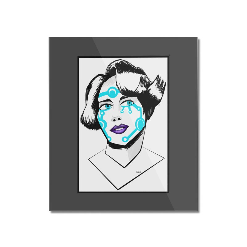 CYBER GIRL Home Mounted Acrylic Print by droidmonkey's Artist Shop