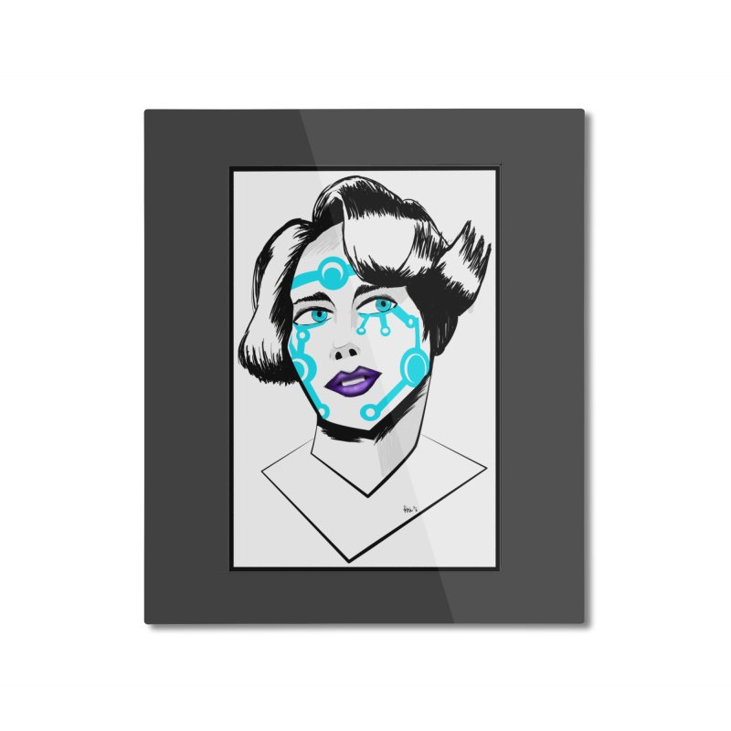 CYBER GIRL Home Mounted Aluminum Print by droidmonkey's Artist Shop