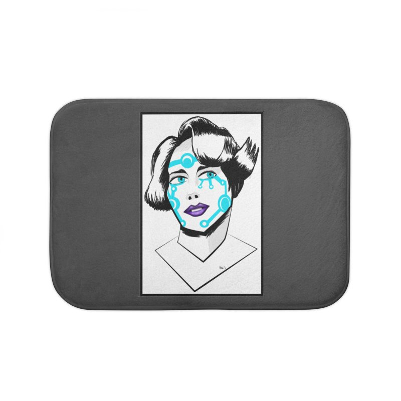 CYBER GIRL Home Bath Mat by droidmonkey's Artist Shop