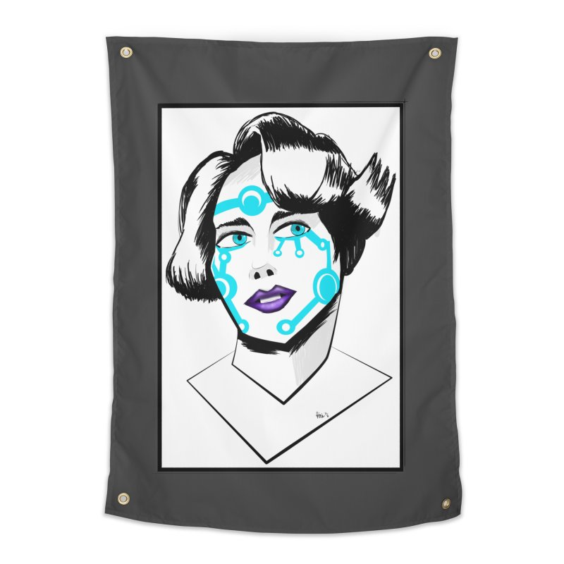 CYBER GIRL Home Tapestry by droidmonkey's Artist Shop