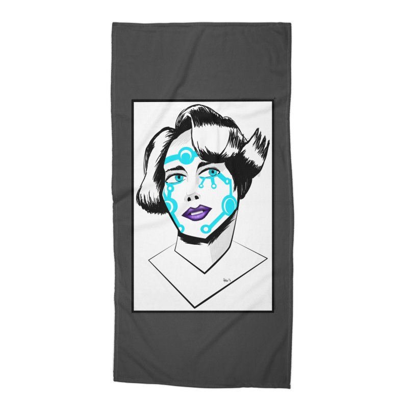 CYBER GIRL Accessories Beach Towel by droidmonkey's Artist Shop