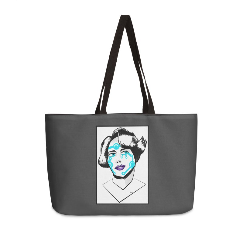 CYBER GIRL Accessories Weekender Bag Bag by droidmonkey's Artist Shop