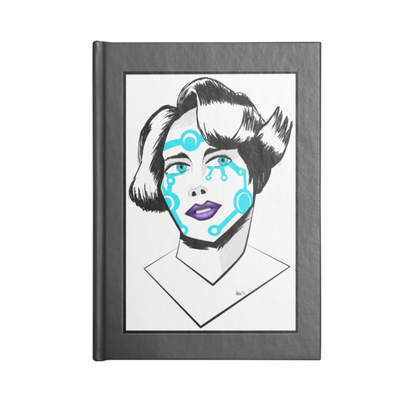 CYBER GIRL Accessories Lined Journal Notebook by droidmonkey's Artist Shop