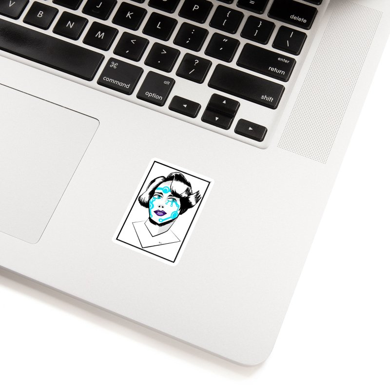 CYBER GIRL Accessories Sticker by droidmonkey's Artist Shop
