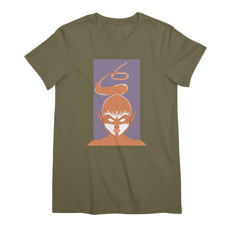 ELF GIRL Women's Premium T-Shirt by droidmonkey's Artist Shop