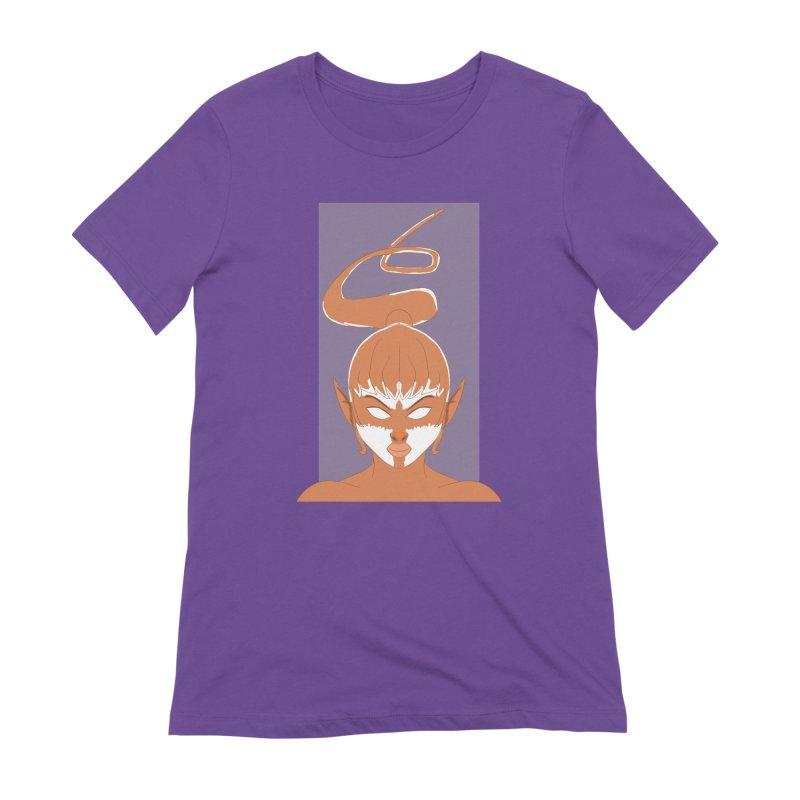 ELF GIRL Women's Extra Soft T-Shirt by droidmonkey's Artist Shop